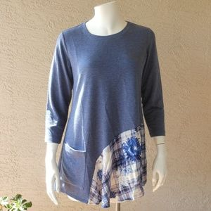Relaxed Fit Tunic LOGO Lounge NWOT